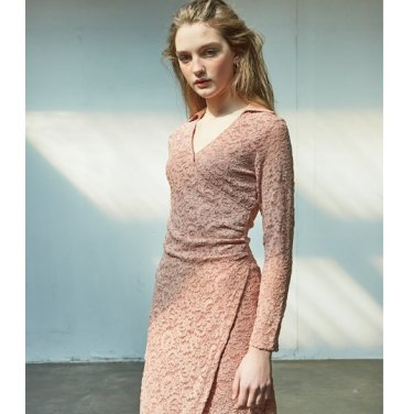 [살롱드욘] Lace Shirring Dress_ Pink (19YOHN15E)