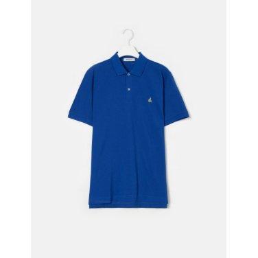 19SS  Unisex 로열 블루 솔리드 칼라 티셔츠(BC9242A01N)