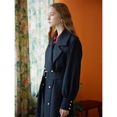 [일루스트리스일루전] BLACK TRENCH COAT