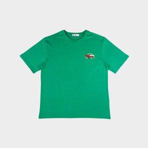 [하이레졸루션] 픽셀 자동차 티셔츠 - GREEN