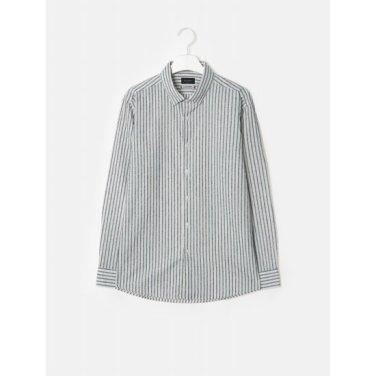 [LIMITED EDITION] 아이보리 데코 부클 스트라이프 셔츠 (GC9164L010)