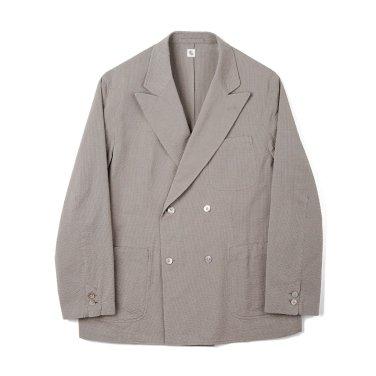 KAPTAIN SUNSHINE Fieldwrap Double-Breasted Jacket Beige x Grey