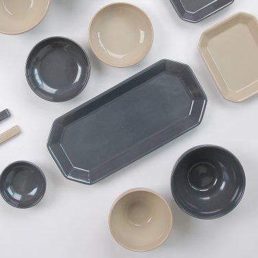 [윤도자기] 모던 한식 플레이팅 그릇 - 팔각긴접시 (5컬러택1)