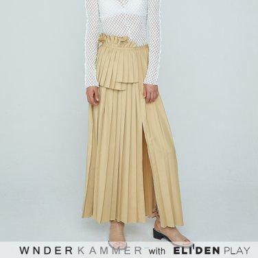 [분더캄머:WNDERKAMMER] 20SS Long Pleats Skirt Beige (WK0S3-LPSK010)