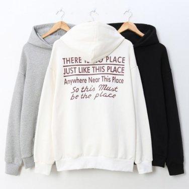 남자여자 가을 등 레터링 후드 티셔츠