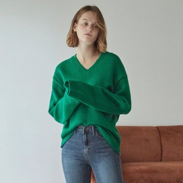 [DEANS] V PULLOVER SWEATER_GREEN