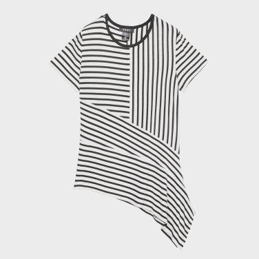 스트라이프 반팔 티셔츠(DW1J1TTS163W0