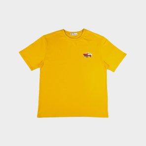 [하이레졸루션] 픽셀 자동차 티셔츠 - YELLOW