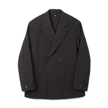 KAPTAIN SUNSHINE Fieldwrap Double-Breasted Jacket Black x Brown