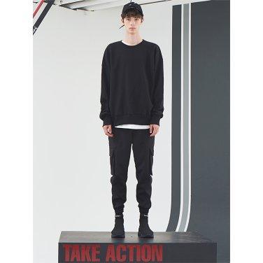 [홀리넘버7] Back Velcro Sweat Shirt_Black