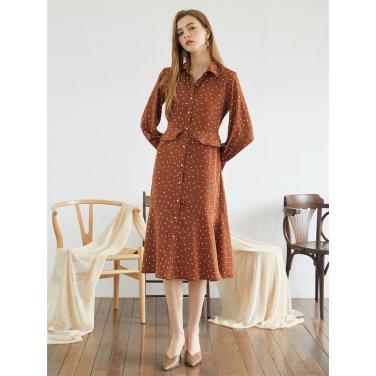 [에프코코로미즈] waist ruffle dress
