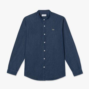 (남성) 헨리넥 데님 레귤러핏 셔츠(CH510E-19A_2컬러)