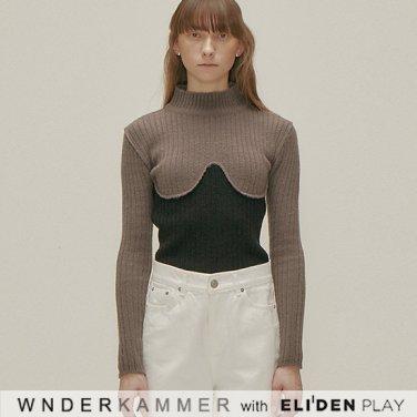 [분더캄머:WNDERKAMMER] Coloration Sweater Top_Grey  (WK9F0-CRSW040)