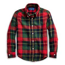 폴로 키즈 남아 2-4세 플래드 코튼 트윌 셔츠(CWPOWOVT6820007600)
