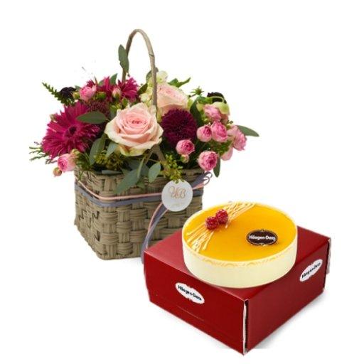 하겐다즈 옐로우드림+미씽유 꽃바구니 / 무료배송