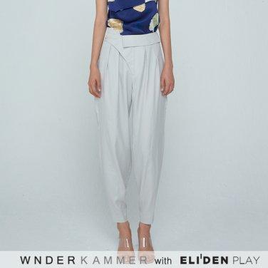 [분더캄머:WNDERKAMMER] 20SS Unbalance Tuck Trousers Light Grey (WK0S4-UTPT050)