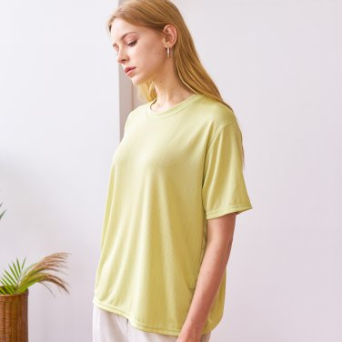 SLIT T-SHIRTS_LIME