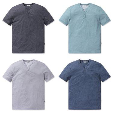 [올젠]메쉬 노치넥 티셔츠(ZOZ2TR1316 4종 택1)as