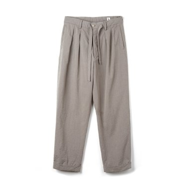 KAPTAIN SUNSHINE Two Pleats Travel Trousers Beige x Grey