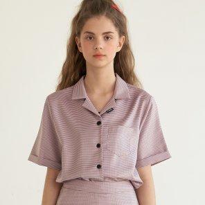 깅엄 체크 셋업 셔츠 핑크(B2T10PK)
