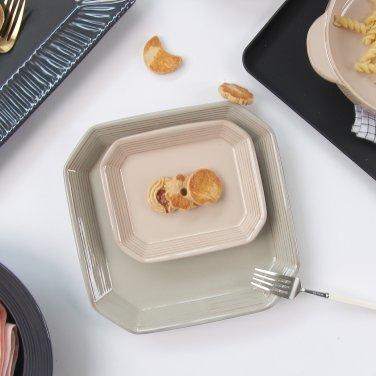 [윤도자기] 모던 한식 플레이팅 그릇 - 팔각소접시 (5컬러택1)