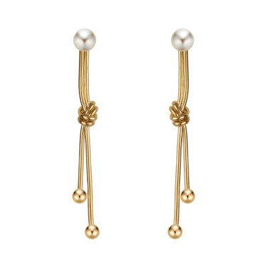 I-ng gold earrings