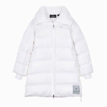여성 로고 테이핑 디렉셔널 다운 자켓 4WH9O563-100