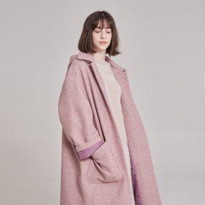 디터쳐블 후드 핑크 코트(PL9CT03)
