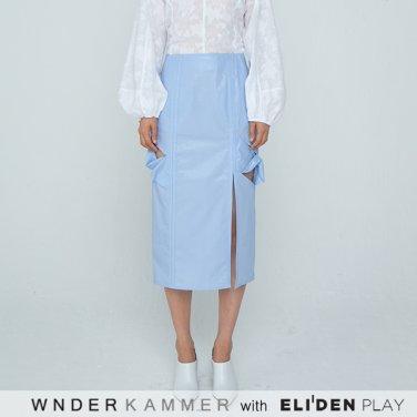 [분더캄머:WNDERKAMMER] 20SS Twist Long H-line Skirt Light Blue (WK0M5-TLSK050)