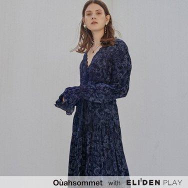 [우아솜메] Ouahsommet BOHEMIAN PAISLEY SILK DRESS_NV (OBFOP001A)