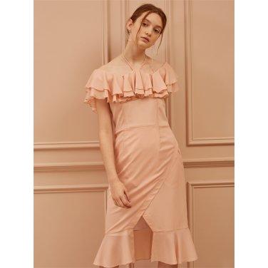 [까이에] halter neck Ruffled Dress