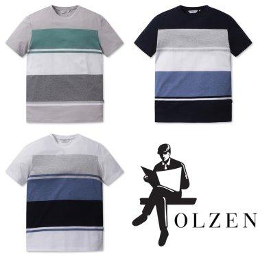 [올젠]컬러 블럭 티셔츠(ZOZ2TR1305 3종 택1)as