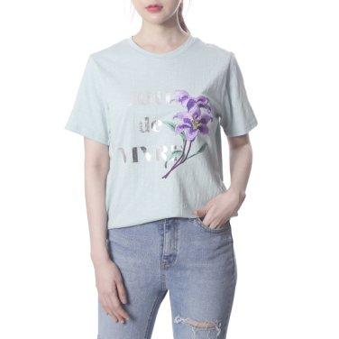예쁜 꽃자수티셔츠 (PK2CH434)