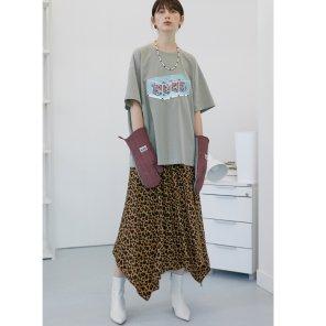 [테이즈] Leopard Unbalance Hemline Skirt 2종(19FWTAZE01E)