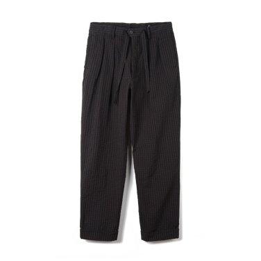 KAPTAIN SUNSHINE Two Pleats Travel Trousers Black x Brown