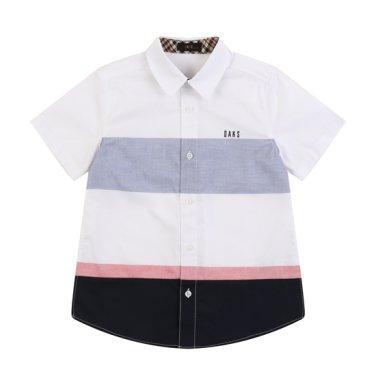 선염 라인 포인트 셔츠 (DPM12XS19M_WT)