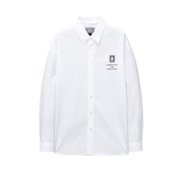 화이트 이그나시 와펜 솔리드 셔츠 JNSH0B603WT