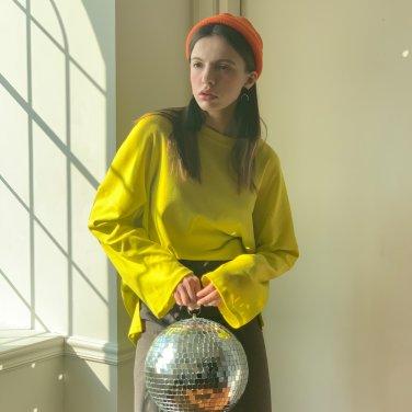 Neon Drop Shoulder Tshirts Lime(2019SSTS320_001)