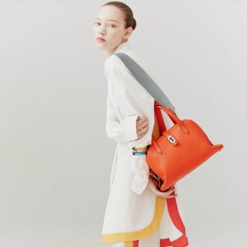[vunque] Toque tote M (토크 토트 미듐) Bright orange_VQB01TO2031