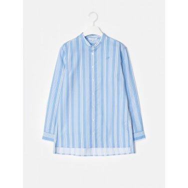 스카이 블루 여성 스트라이프 루즈핏 셔츠 (BO9264C03Q)