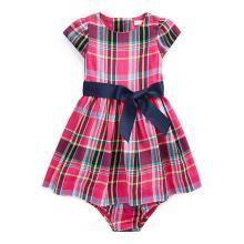 랄프 로렌 베이비 여아 플래드 핏앤플레어 드레스(CWPODRSF3M10266D61)