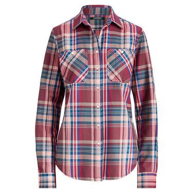 로렌 플래드 코튼트윌 셔츠(WMLRSHTS6810061E49)