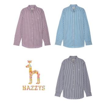헤지스 스트라이프 면 긴팔캐주얼셔츠(HZSH0A234)