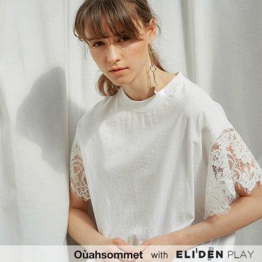 [우아솜메] Ouahsommet Lace Wing T-Shirt_WH (OBFTS012A)