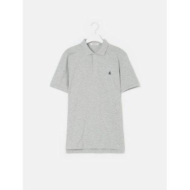 19SS  Unisex 그레이 솔리드 칼라 티셔츠(BC9242A013)