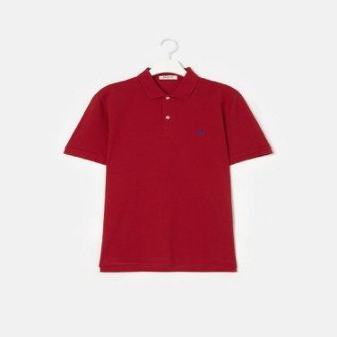 S/S Unisex 레드 솔리드 칼라 티셔츠(BC9242A016)