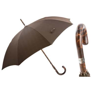 맨비스포크 브라운 밀포드 솔리드 스틱 히코리 핸들 1단 수동 우산 ME1M5HT