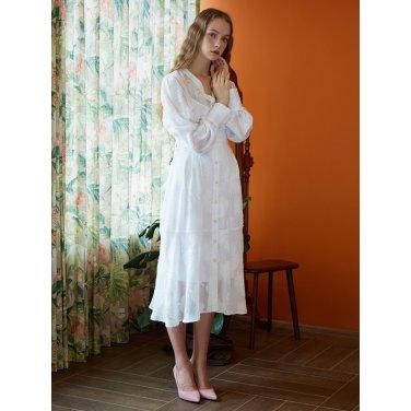 [일루스트리스일루전] W CHIFFON LEAF DRESS SLIP SET
