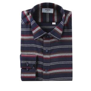 위사스트라이프 기모 슬림핏 셔츠 RIWSL4152NYLI