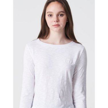 아이보리 여성 슬럽 7부 티셔츠 (BO9342C050)